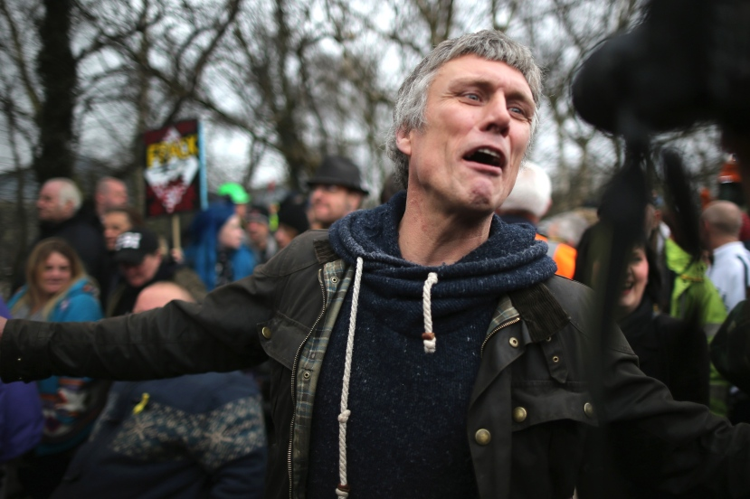 Bez From The Happy Mondays Joins Barton Moss Fracking Protesters