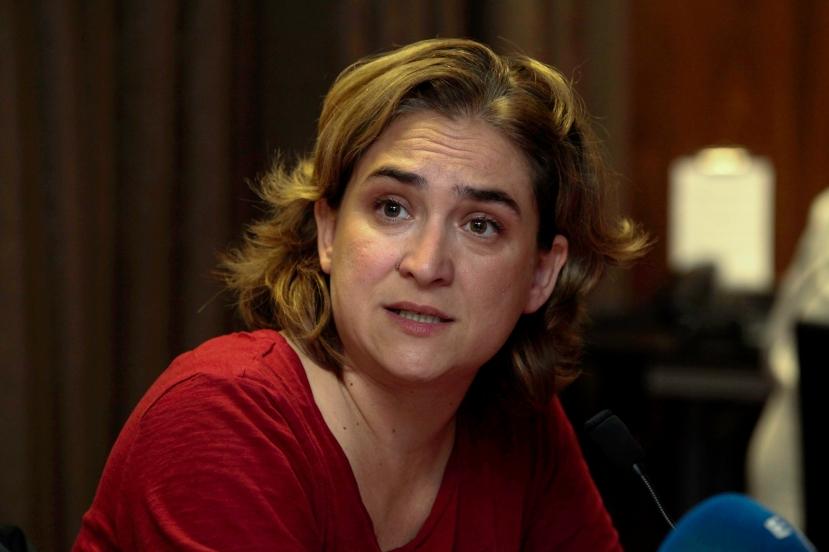 Barcelona, rueda de prensa con Ada Colau